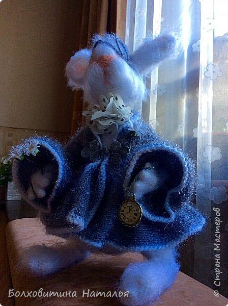 """Белый Кролик из """"Алисы в стране чудес"""", связан по МК Елены Фортыгиной фото 6"""