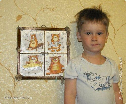Доброго Вам времени суток, дорогие соседи! Я к вам с шуточным панно про кота-рыбака... Это панно делала для одного хорошего человека на работе как подарок на день рождения.... фото 14