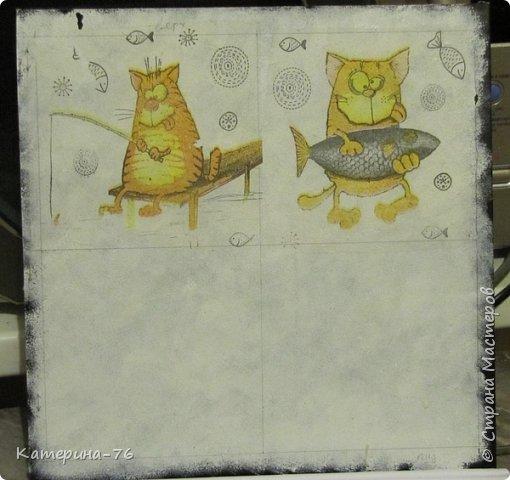 Доброго Вам времени суток, дорогие соседи! Я к вам с шуточным панно про кота-рыбака... Это панно делала для одного хорошего человека на работе как подарок на день рождения.... фото 3