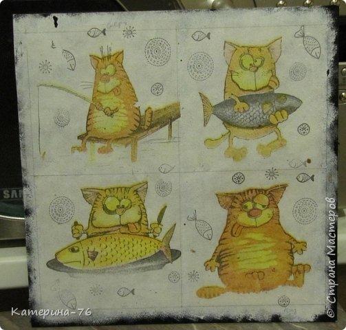 Доброго Вам времени суток, дорогие соседи! Я к вам с шуточным панно про кота-рыбака... Это панно делала для одного хорошего человека на работе как подарок на день рождения.... фото 4