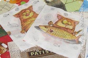 Доброго Вам времени суток, дорогие соседи! Я к вам с шуточным панно про кота-рыбака... Это панно делала для одного хорошего человека на работе как подарок на день рождения.... фото 2