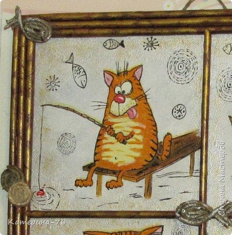 Доброго Вам времени суток, дорогие соседи! Я к вам с шуточным панно про кота-рыбака... Это панно делала для одного хорошего человека на работе как подарок на день рождения.... фото 7