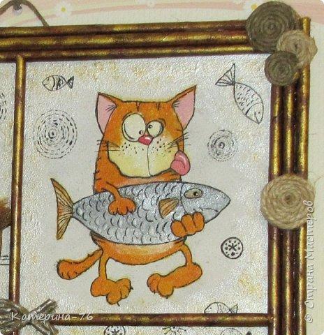 Доброго Вам времени суток, дорогие соседи! Я к вам с шуточным панно про кота-рыбака... Это панно делала для одного хорошего человека на работе как подарок на день рождения.... фото 8