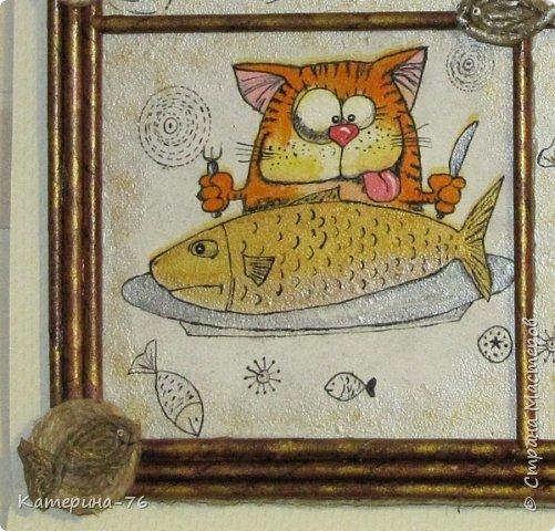 Доброго Вам времени суток, дорогие соседи! Я к вам с шуточным панно про кота-рыбака... Это панно делала для одного хорошего человека на работе как подарок на день рождения.... фото 9