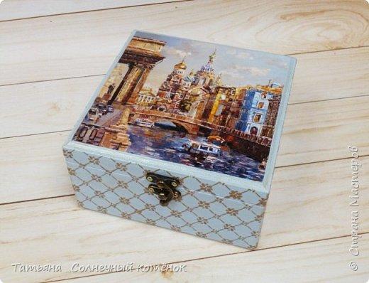 Шкатулка с Санкт-Петербургским пейзажем фото 1