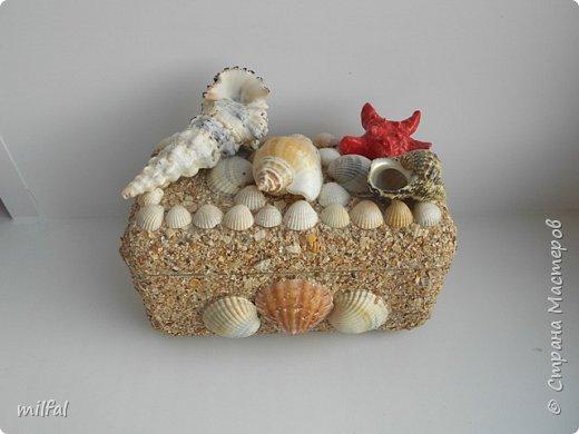 Обожаю морскую тему,....После отдыха с чёрного моря привезла ракушки и морской песок в очередной раз,родились вот такие шкатулочки.Я думаю,актуальная тема в разгар лета. Покажу в полном объёме. фото 10