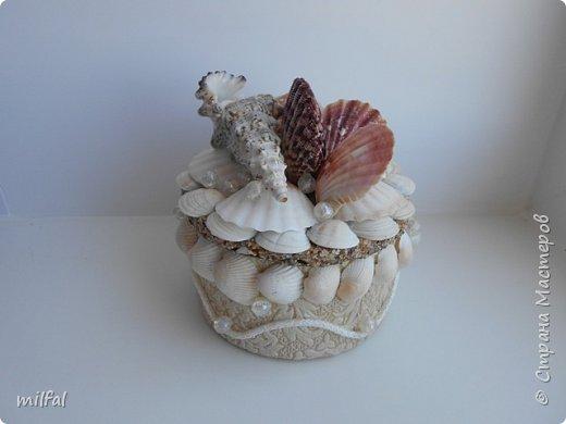Обожаю морскую тему,....После отдыха с чёрного моря привезла ракушки и морской песок в очередной раз,родились вот такие шкатулочки.Я думаю,актуальная тема в разгар лета. Покажу в полном объёме. фото 2