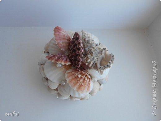 Обожаю морскую тему,....После отдыха с чёрного моря привезла ракушки и морской песок в очередной раз,родились вот такие шкатулочки.Я думаю,актуальная тема в разгар лета. Покажу в полном объёме. фото 6
