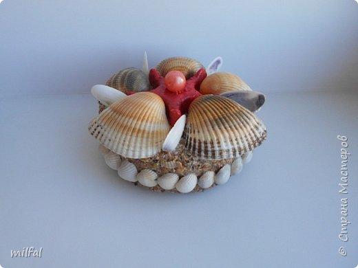 Обожаю морскую тему,....После отдыха с чёрного моря привезла ракушки и морской песок в очередной раз,родились вот такие шкатулочки.Я думаю,актуальная тема в разгар лета. Покажу в полном объёме. фото 7
