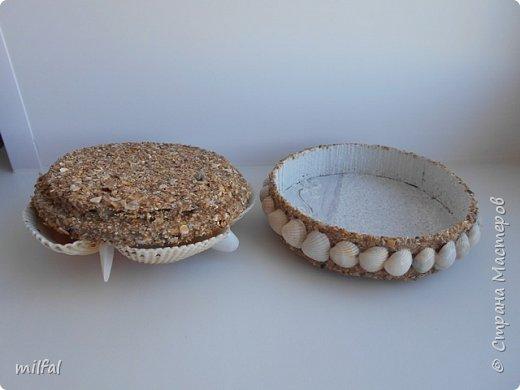 Обожаю морскую тему,....После отдыха с чёрного моря привезла ракушки и морской песок в очередной раз,родились вот такие шкатулочки.Я думаю,актуальная тема в разгар лета. Покажу в полном объёме. фото 9