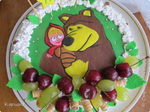 Добрый день СМ! Хочу показать вам очередную  вкусняшку - тортик для доченьки подруги. Кулинар с меня не ахти какой, но вот как-то так вышло) фото 2