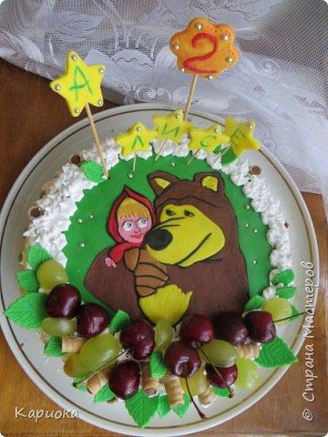 Добрый день СМ! Хочу показать вам очередную  вкусняшку - тортик для доченьки подруги. Кулинар с меня не ахти какой, но вот как-то так вышло) фото 1