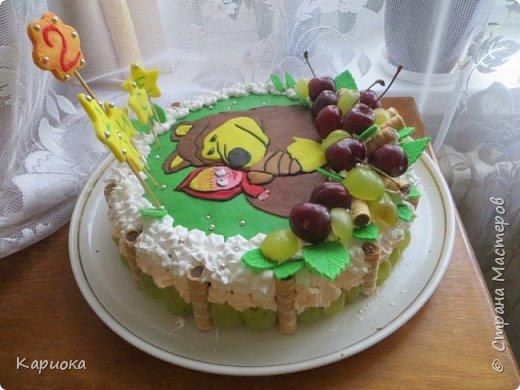 Добрый день СМ! Хочу показать вам очередную  вкусняшку - тортик для доченьки подруги. Кулинар с меня не ахти какой, но вот как-то так вышло) фото 4