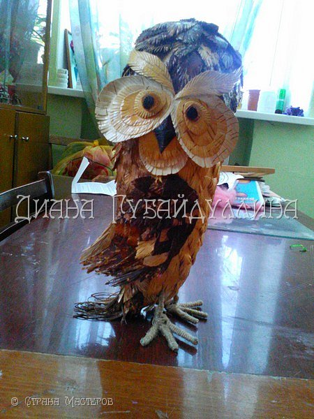 Сделала вот такую сову из бересты. фото 2