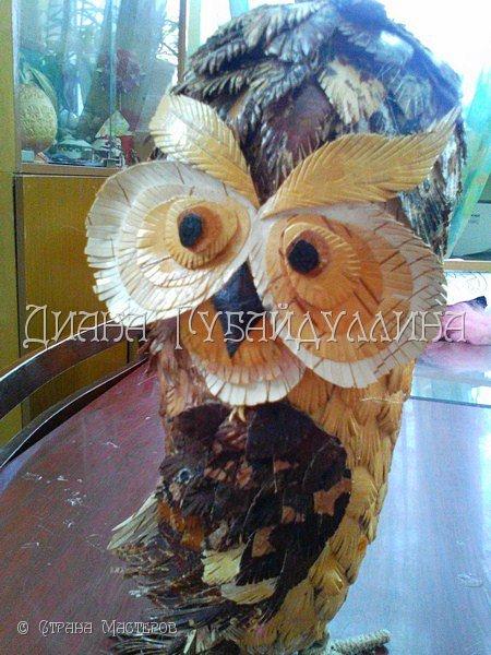 Сделала вот такую сову из бересты. фото 4