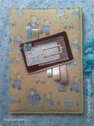 Добрый день.  Для подарка бабушке сделала папку с фотографиями малыша. фото 1