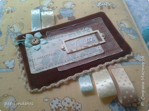 Добрый день.  Для подарка бабушке сделала папку с фотографиями малыша. фото 2