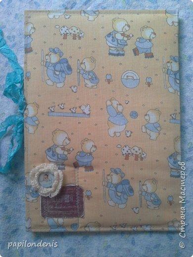 Добрый день.  Для подарка бабушке сделала папку с фотографиями малыша. фото 3