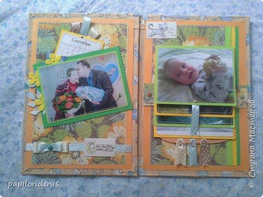 Добрый день.  Для подарка бабушке сделала папку с фотографиями малыша. фото 4
