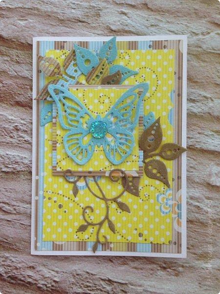 Кажется, что эти работы я не показывала:)  Эта открытка совсем  сделана недавно на волне сливочного монохрома:) фото 7