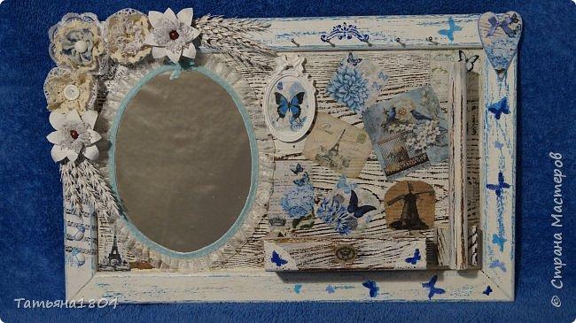 Панно выполнено на деревянной поверхности с рамкой. Размер 33х52 см. фото 6