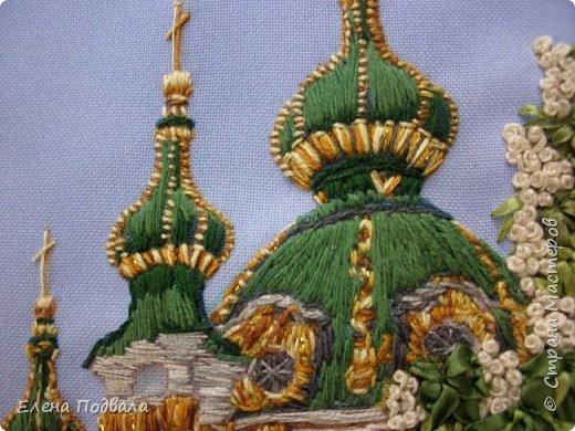 Андреевский собор в каштанах. В рамочке (дуб) со стеклом. Размер 170*240 мм фото 6