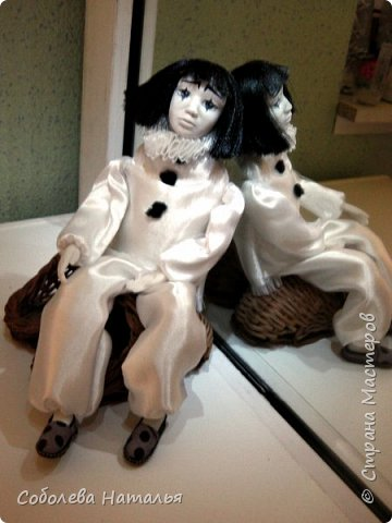 "Дебютная интерьерная кукла ""Пьеро"" фото 3"