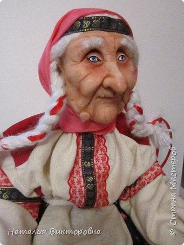 Хочу показать вам новую работу, Бабушка Яга! Правда она не до конца сделана -нет атрибутов для Яги, Будет еще ступа( наверное) с метлой.  Вот такая чистюля в этот раз! фото 4