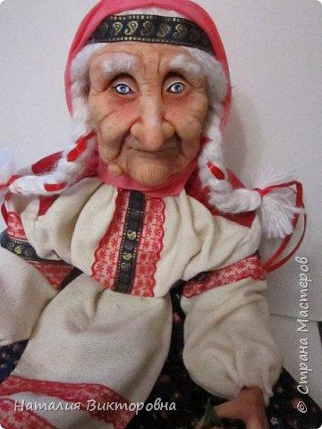 Хочу показать вам новую работу, Бабушка Яга! Правда она не до конца сделана -нет атрибутов для Яги, Будет еще ступа( наверное) с метлой.  Вот такая чистюля в этот раз! фото 16