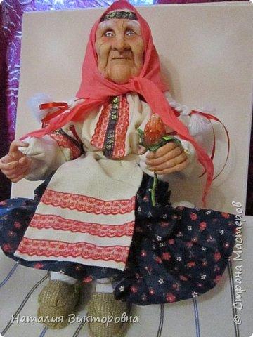 Хочу показать вам новую работу, Бабушка Яга! Правда она не до конца сделана -нет атрибутов для Яги, Будет еще ступа( наверное) с метлой.  Вот такая чистюля в этот раз! фото 2