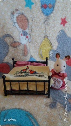 У моей подруги день рождения,целых 5 лет!решила подарить семью сильванов. А у ним смастерила кроватки.это кровать для родителей фото 3