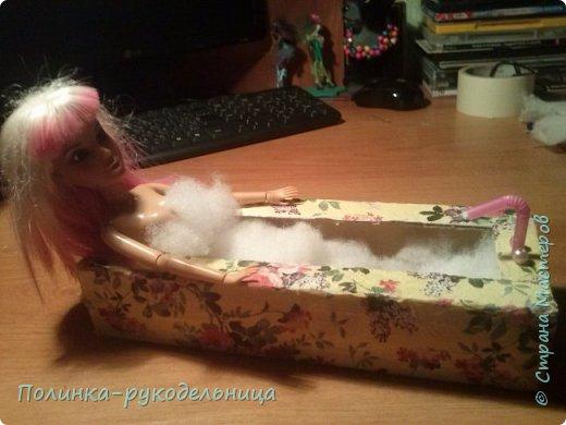 Всем привет сегодня будем делать ванну для кукол.Надеемся вам понравится. фото 11