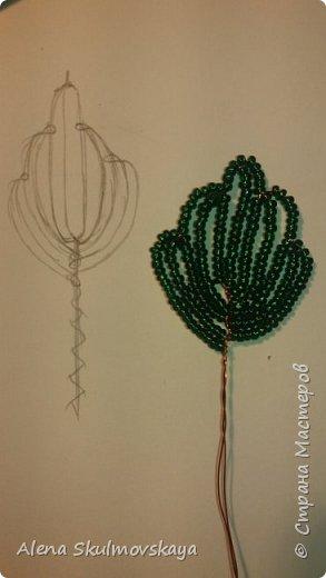 комнатное растение из бисера фото 2