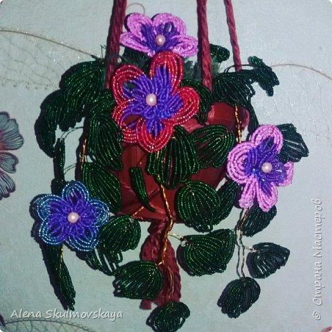 комнатное растение из бисера фото 1
