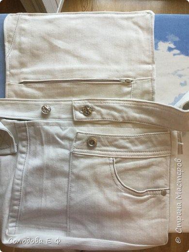 """Отдали мне старые джинсы цвета топлёного молока. Дочь попросила сумку, чтобы """"тетрадку носить лёжа"""".  фото 6"""