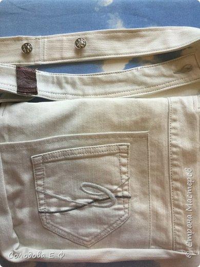 """Отдали мне старые джинсы цвета топлёного молока. Дочь попросила сумку, чтобы """"тетрадку носить лёжа"""".  фото 8"""
