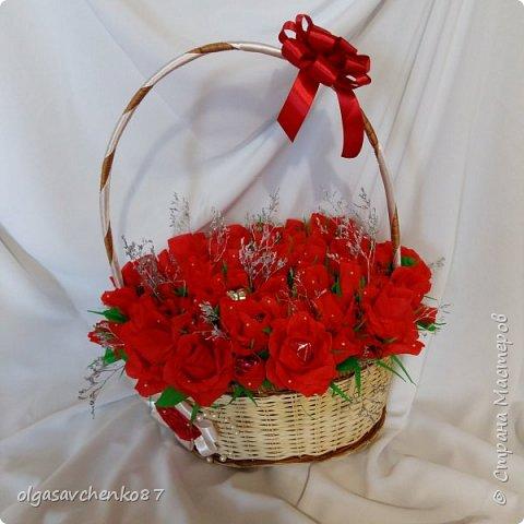 Всем привет!!!! 50 сладких цветочков получились у меня в дополнение к основному подарку ....  фото 3