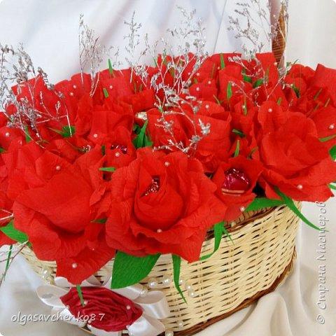 Всем привет!!!! 50 сладких цветочков получились у меня в дополнение к основному подарку ....  фото 1
