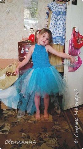 Вот такое комбинированное платье было мной сделано до со малышки. Вверх связан в две нити  пряжей Ромашка цвет 3010 и alize forever simli с металлизированной нитью цвет 16 фото 1