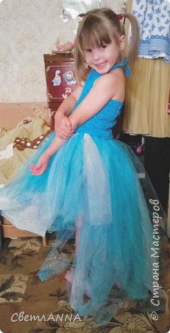 Вот такое комбинированное платье было мной сделано до со малышки. Вверх связан в две нити  пряжей Ромашка цвет 3010 и alize forever simli с металлизированной нитью цвет 16 фото 2
