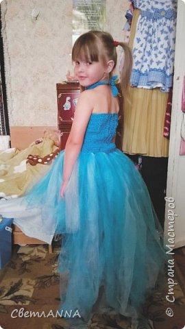 Вот такое комбинированное платье было мной сделано до со малышки. Вверх связан в две нити  пряжей Ромашка цвет 3010 и alize forever simli с металлизированной нитью цвет 16 фото 3