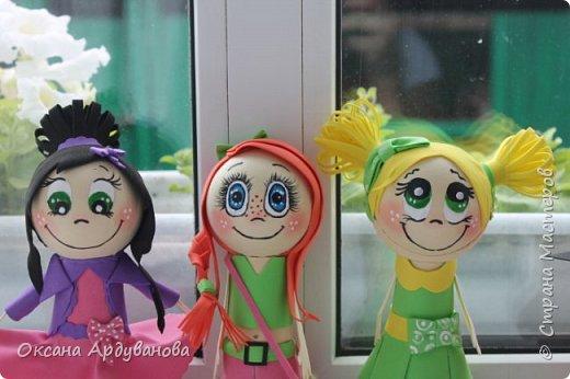 Вот такие девчонки из фоамирана получились!!! фото 10