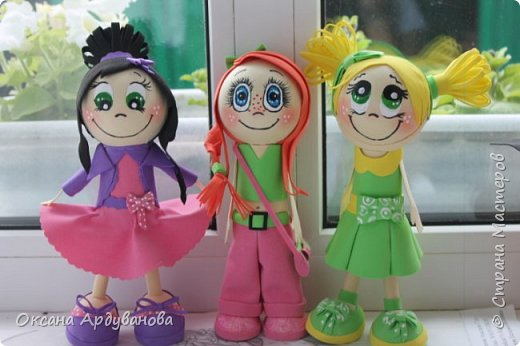 Вот такие девчонки из фоамирана получились!!! фото 9