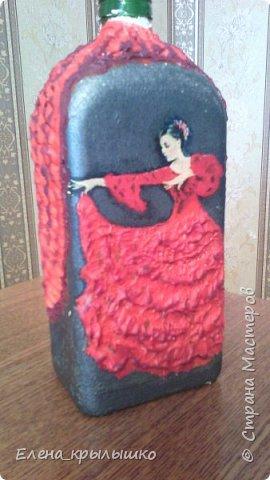 """ВСЕХ приветствую!Доброго времени суток!Вот сделала бутылочку """"Фламенко"""" фото 1"""
