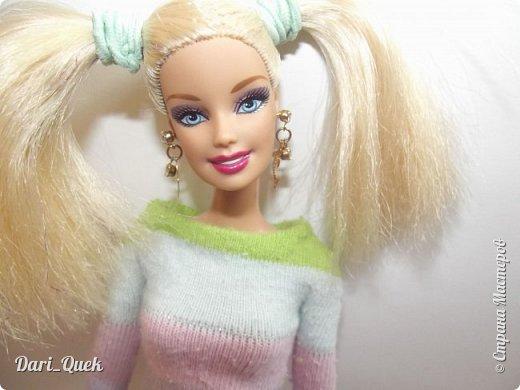 Доброго времени суток, друзья!) Это моя первая опубликованная работа в СМ. В этой записи я познакомлю Вас с моей куколкой Барби - Алисой и с ее новой пижамой! фото 1