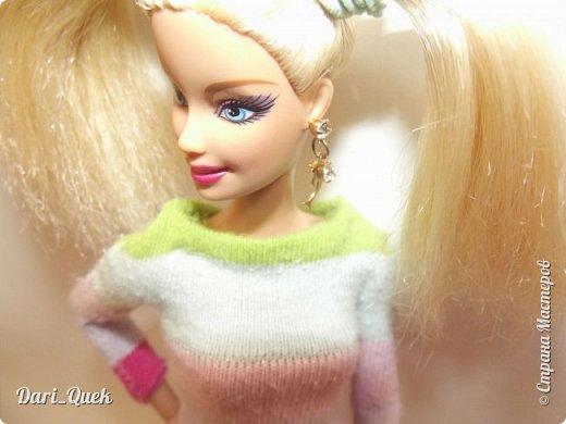 Доброго времени суток, друзья!) Это моя первая опубликованная работа в СМ. В этой записи я познакомлю Вас с моей куколкой Барби - Алисой и с ее новой пижамой! фото 4