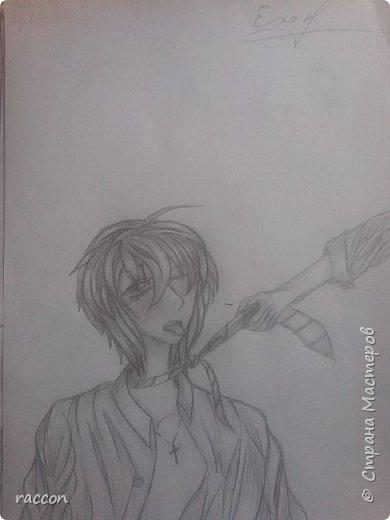 одна из моих первых попыток срисовать человека с фото в стиле аниме фото 2
