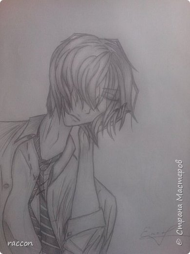 одна из моих первых попыток срисовать человека с фото в стиле аниме фото 3