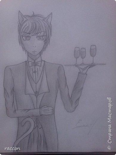 одна из моих первых попыток срисовать человека с фото в стиле аниме фото 7