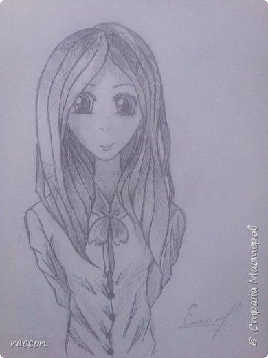 одна из моих первых попыток срисовать человека с фото в стиле аниме фото 8